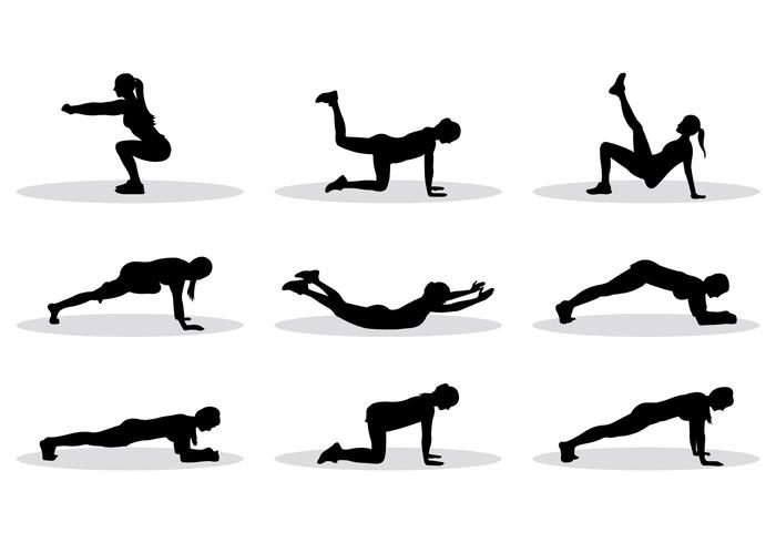 Exercise vector silhouette